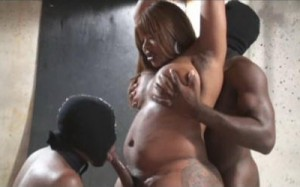 TS Madison Torture her two Black male Sex Slaves