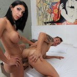 Latina Travesti Bareback fucks her man…