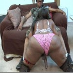 50+ Inches of Phat ass with a 10+ Cock Between her Legs….