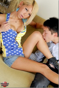 NewHalf Miram gets fucked by Asian Stud @ ShemaleJapan.com